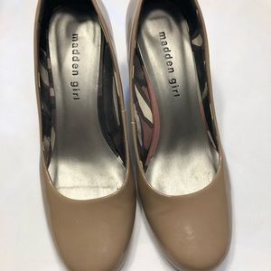 Madden girl taupe heels